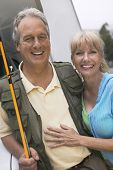 stock photo of early 50s  - Fisherman with Wife - JPG