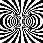 picture of psychodelic  - Black and white stripes projection on torus - JPG