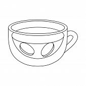 Vector Illustration Of Ginger And Tea Symbol. Set Of Ginger And Cup Vector Icon For Stock. poster