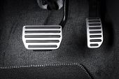 Brake And Accelerator Pedal Of Automatic Transmission Car poster