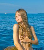 pic of nudism  - Sea Portrait - JPG