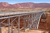 Navajo Bridge crosses the Colorado River near Page, Arizona USA
