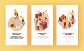 Three Vertical Archeology Banners Set With Scientists Extracting And Researching Ancient Objects 3d  poster