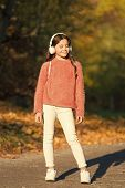 Travel Early And Travel Often. Little Child Enjoy Adventure Travel. Little Child Travel In Autumn Fo poster