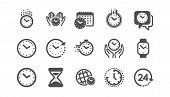 Time And Clock Icons. Timer, Alarm And Smartwatch. Time Management, 24 Hour Clock, Deadline Alarm Ic poster