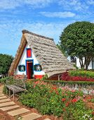 Picturesque house-museum of the first colonists to Madeira. Charming white cottage with a thatched r