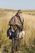 image of pintail  - Hunter back from a very good morning of duck hunting - JPG