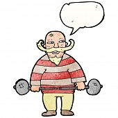 pic of strongman  - cartoon strongman - JPG