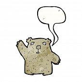 picture of wombat  - cartoon waving wombat - JPG