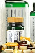 picture of prophylactic  - Composition with dietary supplement capsules and containers - JPG