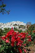 foto of pueblo  - View of white village Mojacar Pueblo Costa Almeria Almeria Province Andalusia Spain Western Europe - JPG