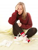 Woman Having Flu