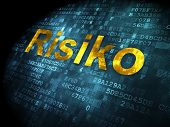 Business concept: Risiko(german) on digital background
