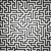 stock photo of maze  - Vector illustration of maze labyrinth - JPG