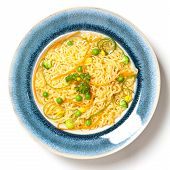 picture of chinese parsley  - Ramen Noodles with carrots - JPG