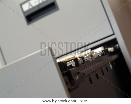 Open File Cabinet poster