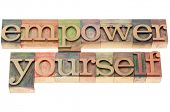 stock photo of empower  - empower yourself   - JPG