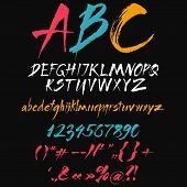 image of punctuation marks  - The alphabet in calligraphy brush - JPG
