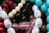 picture of prayer beads  - Close Up Of Islamic Prayer Beads  - JPG