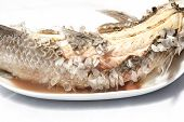 picture of snakehead  - Baked Striped Snakehead Fish With Salt Coated - JPG