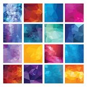 foto of polygons  - Abstract Geometric backgrounds - JPG