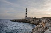 Cap D'artrux Lighthouse, Island Of Menorca, Spain