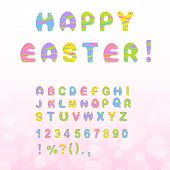 stock photo of punctuation  - Colorful Easter letters - JPG