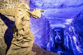 foto of blue angels  - Angel inside the underground salt cathedral in Zipaquira Cundinamarca in Colombia - JPG