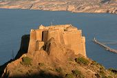 picture of algeria  - Ruin of an old castle above Oran harbour - JPG