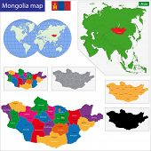 foto of mongol  - Map of administrative divisions of Mongolia - JPG