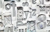 Metal Type Printing Press Typeset Obsolete Typography Text Letters Sign