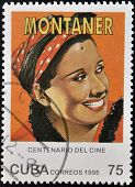 CUBA - CIRCA 1995: A stamp printed in Cuba shows Rita Montaner Cuban singer pianist actress and star