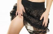 foto of short skirt  - close up of woman in short skirt - JPG
