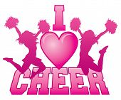 pic of cheerleader  - Illustration of a cheer design for cheerleaders - JPG