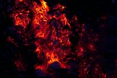 picture of ember  - beautiful glowing embers of wood on a black background - JPG