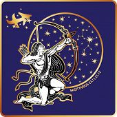 image of horoscope signs  - Sagittarius zodiak sign - JPG