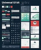 picture of universal sign  - Universal UI Kit for designing websites  - JPG