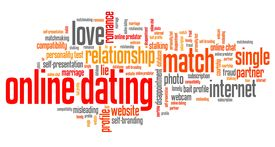 image of soulmate  - Online dating issues and concepts word cloud illustration - JPG