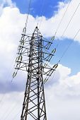 pic of transmission lines  - Power Transmission Line in outdoor land view - JPG