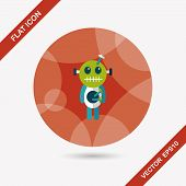 picture of voodoo  - Halloween Voodoo Doll Flat Icon With Long Shadow - JPG
