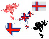 stock photo of faro  - Faroe Islands map different types and symbols on a white background - JPG