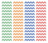 stock photo of chevron  - Zig zag chevron vector tile pattern set - JPG