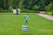 foto of archer  - Statue of an archer in a park of Sanssouci Potsdam Germany - JPG