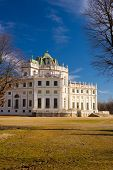 image of torino  - Side view of the Palazzina di Caccia di Stupinigi exterior royal residence Savoy and hunting lodge in the eighteenth century now included in the UNESCO heritage list - JPG