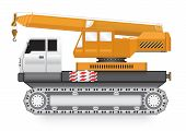 picture of boom-truck  - Illustration of mobile crane on heavy truck - JPG