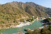image of gang  - Rishikesh Valley on the Ganges river - JPG