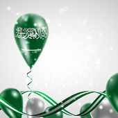 foto of twist  - Flag of Saudi Arabia on balloon - JPG