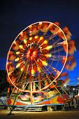 Ferris wheel in a summer night