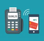 picture of terminator  - NFC technology concept - JPG