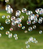 foto of blowers  - The rainbow bubbles from the bubble blower - JPG